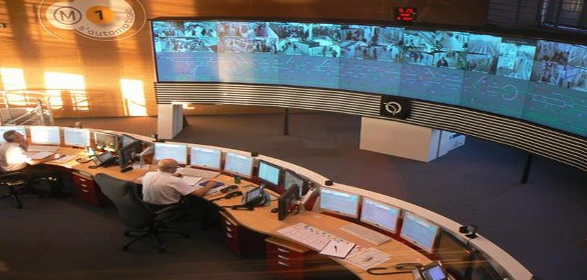 OCC-Operations Control Centre-Paris metro-Line 1-Automatic line